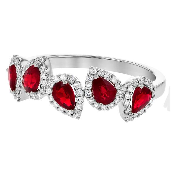 .90cttw Ruby & .24cttw Diamond Fashion Band in 14k White Gold Image 3 Conti Jewelers Endwell, NY