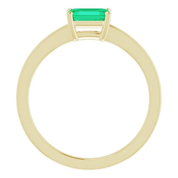 6x4mm Lab-Created Emerald Solitaire Ring in 14k Yellow Gold Image 2 Conti Jewelers Endwell, NY