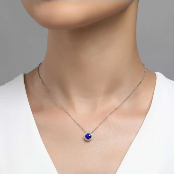 September Birthstone Necklace Image 2 Conti Jewelers Endwell, NY