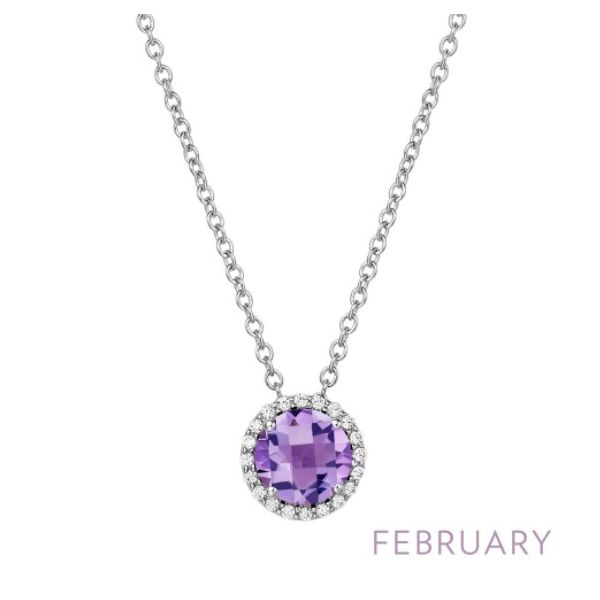 February Birthstone Necklace Conti Jewelers Endwell, NY