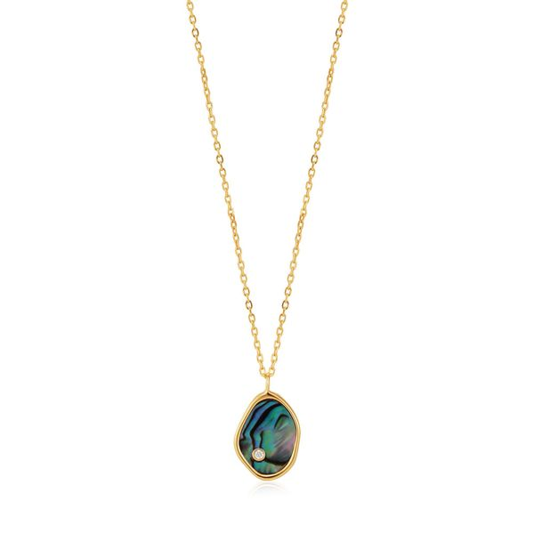 Gold Tidal Abalone Necklace Conti Jewelers Endwell, NY