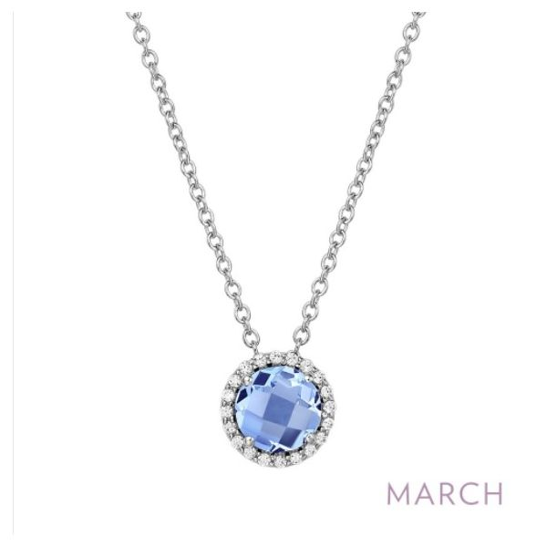 March Birthstone Necklace Conti Jewelers Endwell, NY