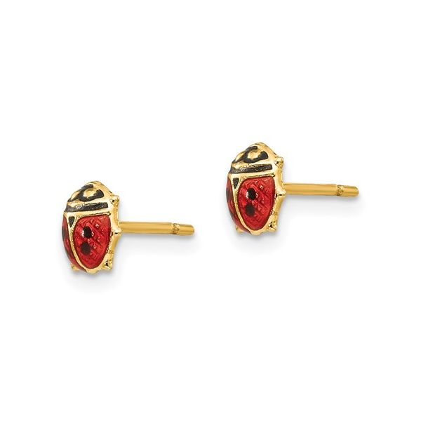 14K Madi K Enamel Ladybug Post Earrings Image 2 Conti Jewelers Endwell, NY