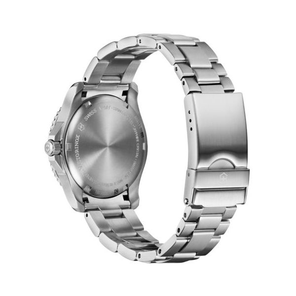 Maverick Small with Blue Bezel and Stainless Steel Bracelet Image 3 Conti Jewelers Endwell, NY