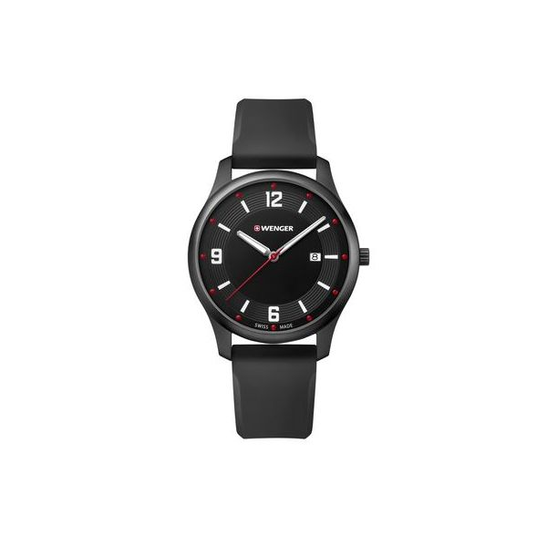 City Active, 43mm in Black with Black Silicone Strap Conti Jewelers Endwell, NY