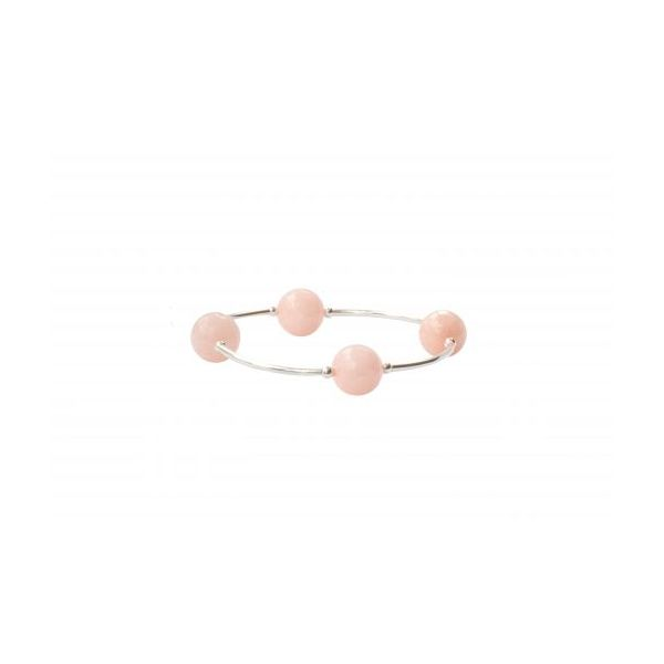 Faceted Rose Water Jade Blessing Bracelet Conti Jewelers Endwell, NY
