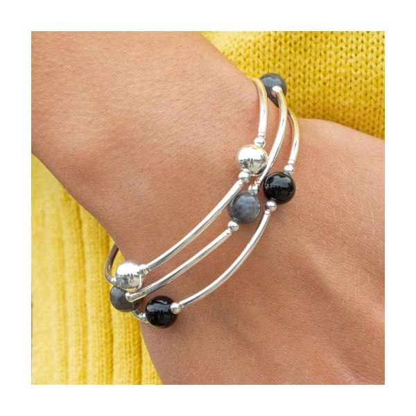 Smaller Bead Sterling Silver Blessing Bracelet Image 2 Conti Jewelers Endwell, NY