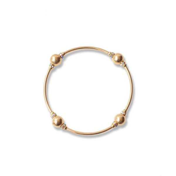 8mm Crystal Gold Blessing Bracelet Conti Jewelers Endwell, NY