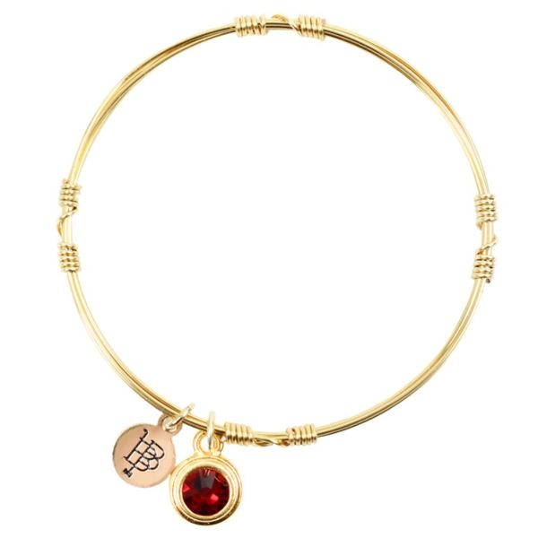January Birthstone Bangle Stacker in Yellow Gold Conti Jewelers Endwell, NY