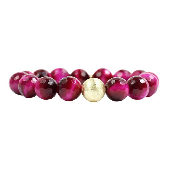 The Kendley 94 Pink Tiger's Eye Bracelet Conti Jewelers Endwell, NY