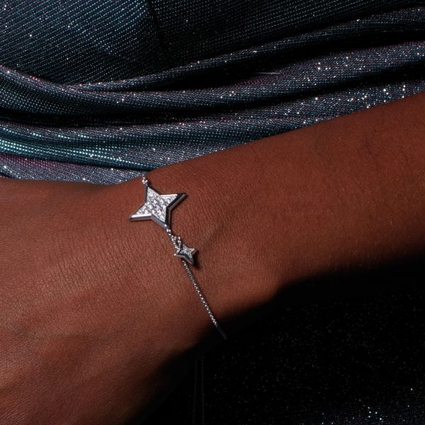 Empire Astoria Starburst Grande CZ Star Toggle Bracelet Image 2 Conti Jewelers Endwell, NY