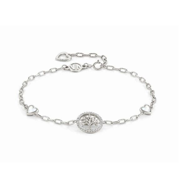 Vita Bracelet with Mother of Pearl Hearts in Sterling Silver Conti Jewelers Endwell, NY