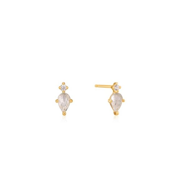 Gold Midnight Stud Earrings Conti Jewelers Endwell, NY