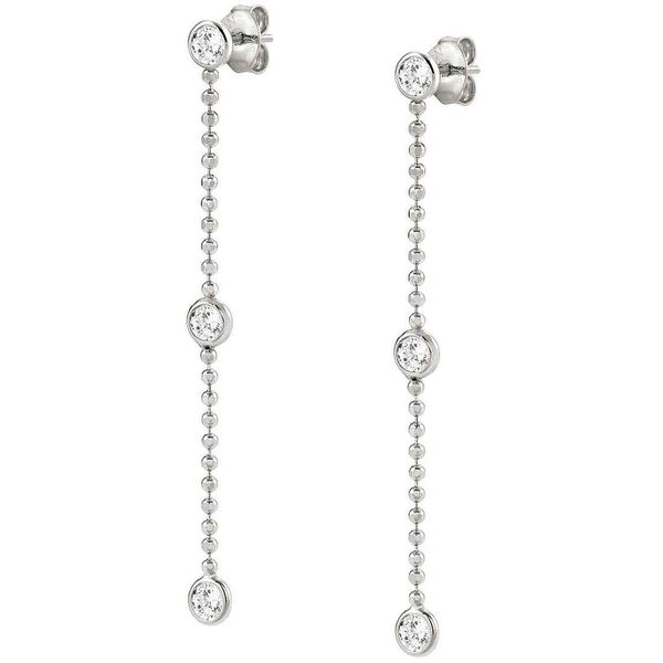 Drop Earrings in Silver and Colored Crystal Conti Jewelers Endwell, NY