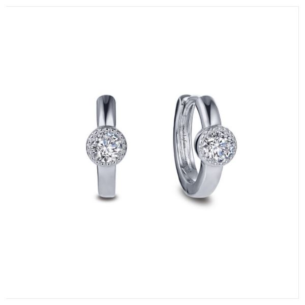 Dainty Station Huggie Earrings Conti Jewelers Endwell, NY