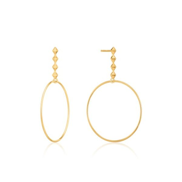 Gold Spike Hoop Earrings Conti Jewelers Endwell, NY