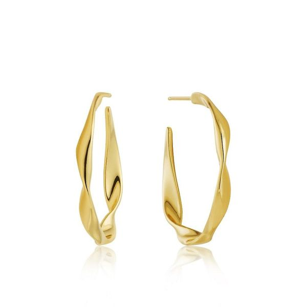Gold Twist Hoop Earrings Conti Jewelers Endwell, NY