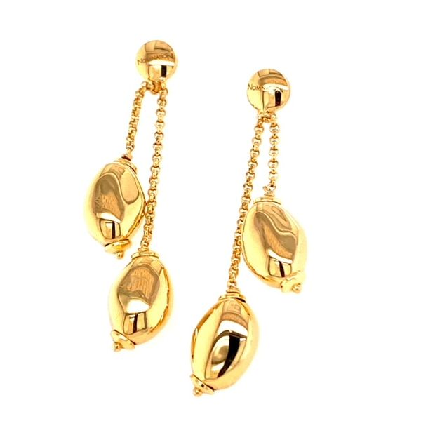 Drop Earrings in 24k Yellow Gold Conti Jewelers Endwell, NY