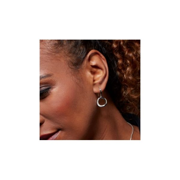 Bevel Cirque CZ Drop Earrings Image 2 Conti Jewelers Endwell, NY