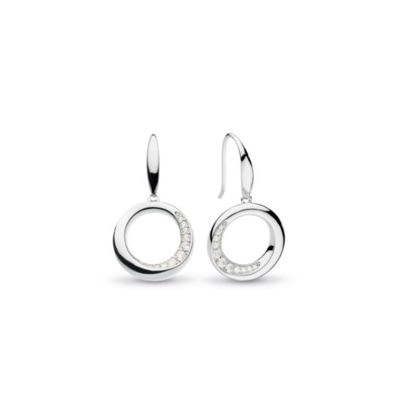 Bevel Cirque CZ Drop Earrings Conti Jewelers Endwell, NY