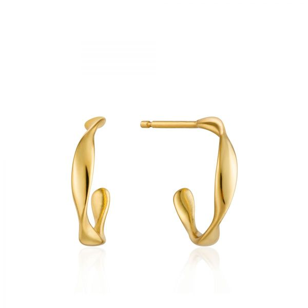Gold Twist Mini Hoop Earrings Conti Jewelers Endwell, NY