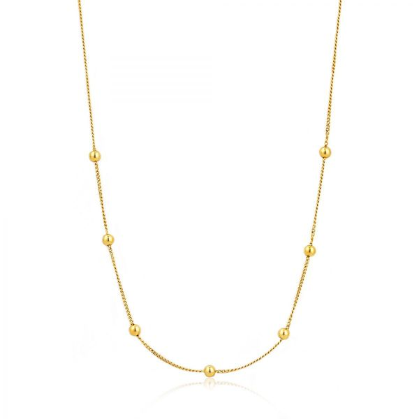 Gold Modern Beaded Necklace Conti Jewelers Endwell, NY