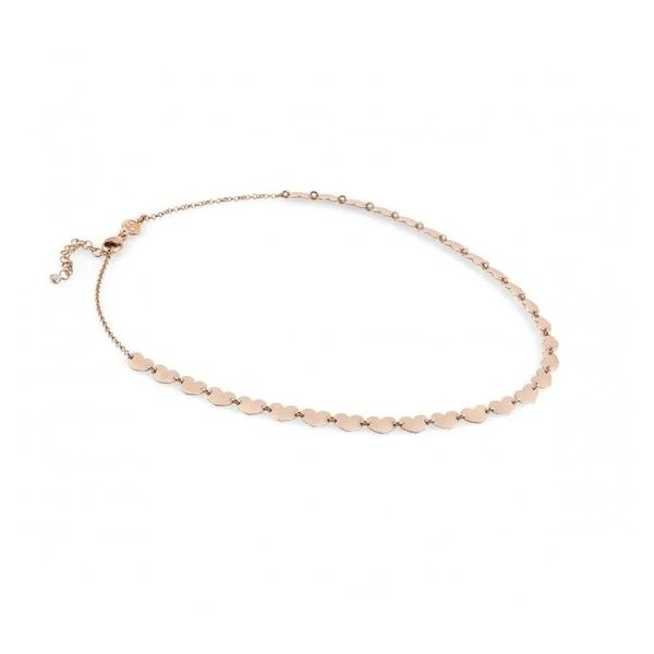 Short Armonie Necklace Full of Hearts in 22k Rose Gold Image 3 Conti Jewelers Endwell, NY