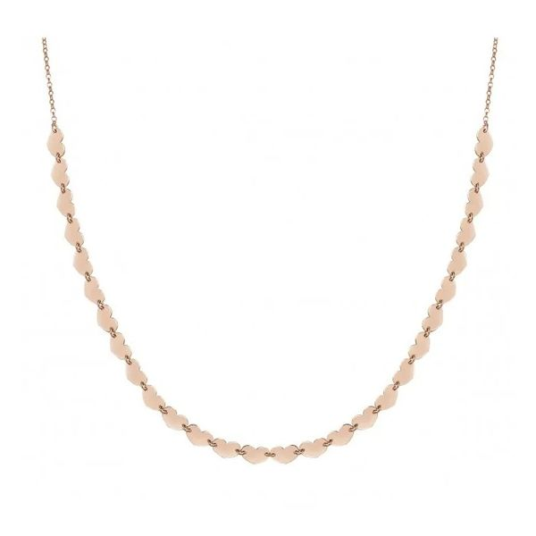 Short Armonie Necklace Full of Hearts in 22k Rose Gold Conti Jewelers Endwell, NY