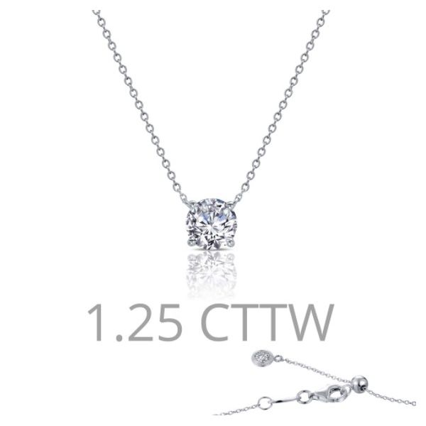 1.25 ct tw Solitaire Necklace Conti Jewelers Endwell, NY