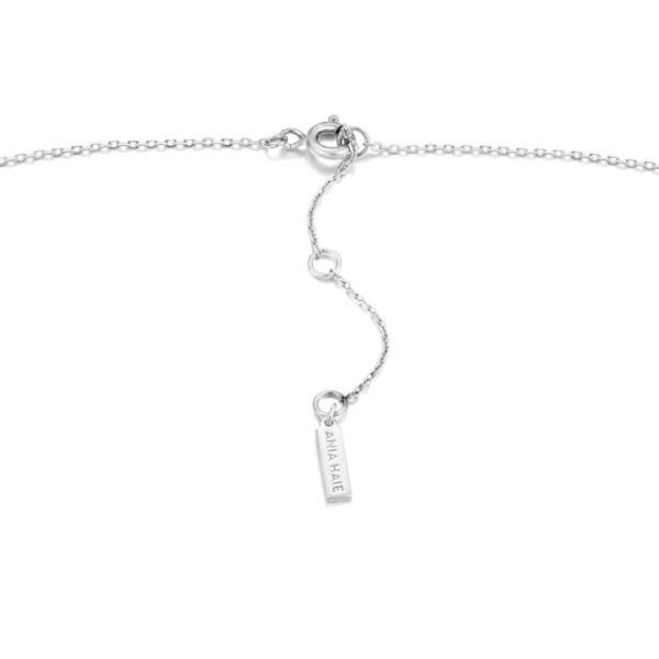 Silver Spike Drop Necklace Image 2 Conti Jewelers Endwell, NY