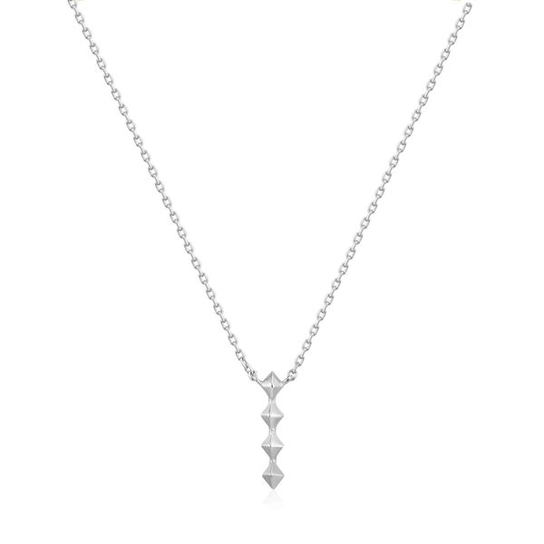Silver Spike Drop Necklace Conti Jewelers Endwell, NY