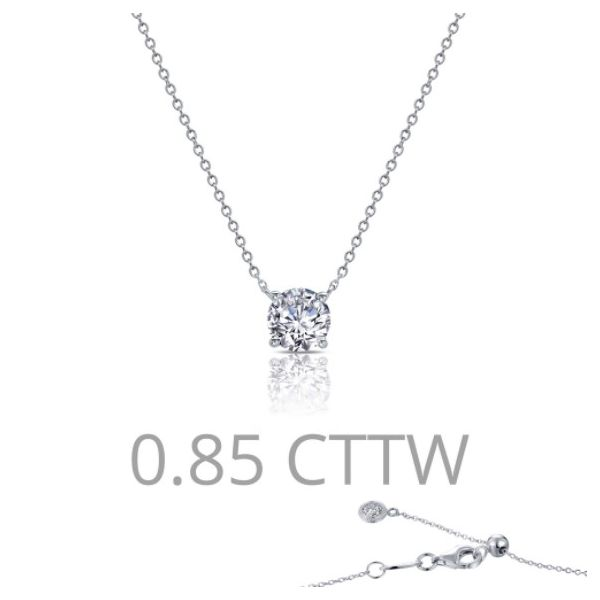0.85 ct tw Solitaire Necklace Conti Jewelers Endwell, NY