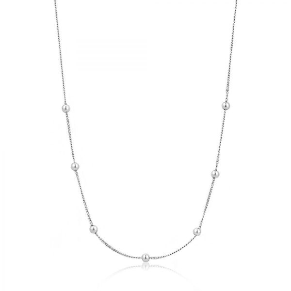 Silver Modern Beaded Necklace Conti Jewelers Endwell, NY