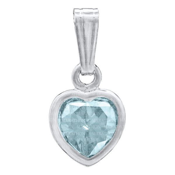 Girls Heart Pendant with December CZ in Sterling Silver Conti Jewelers Endwell, NY