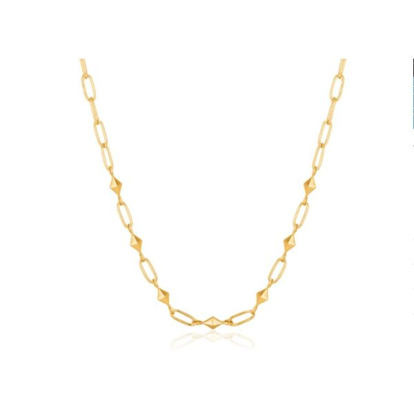 Gold Heavy Spike Necklace Conti Jewelers Endwell, NY