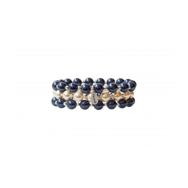 Mercy House Midnight Blue Pearl Count Your Blessings Bracelet Image 2 Conti Jewelers Endwell, NY