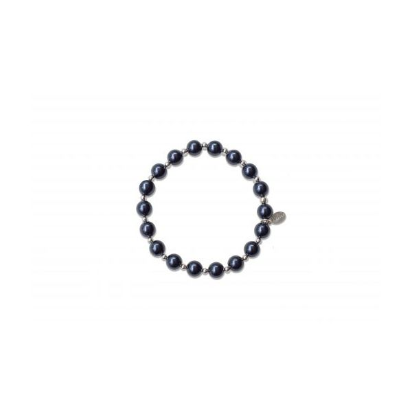 Mercy House Midnight Blue Pearl Count Your Blessings Bracelet Conti Jewelers Endwell, NY