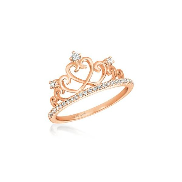14k Rose Gold Le Vian Crown Ring .16ctw Vanilla Diamonds Coughlin Jewelers St. Clair, MI