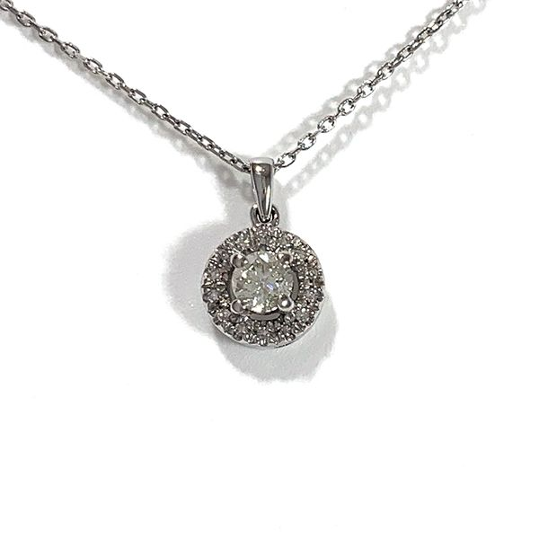 Diamond Halo Pendant Coughlin Jewelers St. Clair, MI