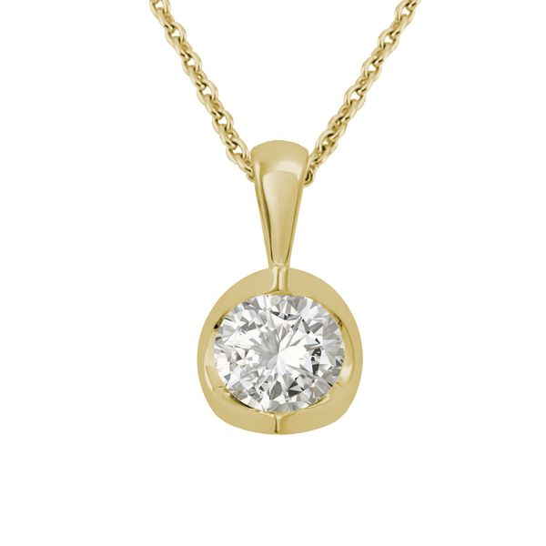 Polar Fire Canadian Diamond Solitaire Pendant - .42ct Coughlin Jewelers St. Clair, MI