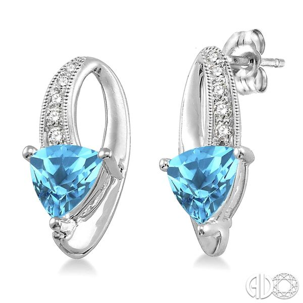 Sterling Silver & Trillion Blue Topaz Earrings Coughlin Jewelers St. Clair, MI