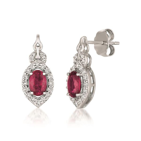 Le Vian® Earrings featuring Passion Ruby™ Vanilla Diamonds® set in 14K Vanilla Gold Coughlin Jewelers St. Clair, MI
