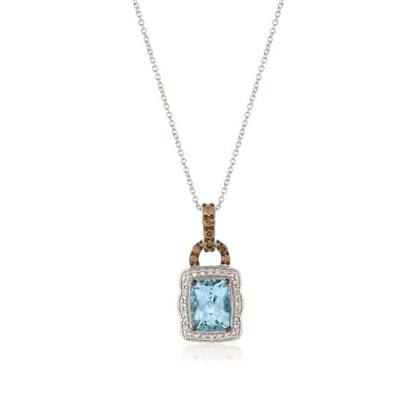 Le Vian Chocolatier® Pendant featuring Sea Blue Aquamarine® Chocolate Diamonds® , Vanilla Diamonds® set in 14K Vanilla Gold Coughlin Jewelers St. Clair, MI