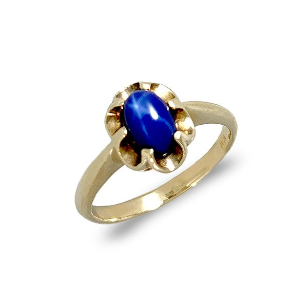 Blue Star Sapphire Yellow Gold Ring Coughlin Jewelers St. Clair, MI