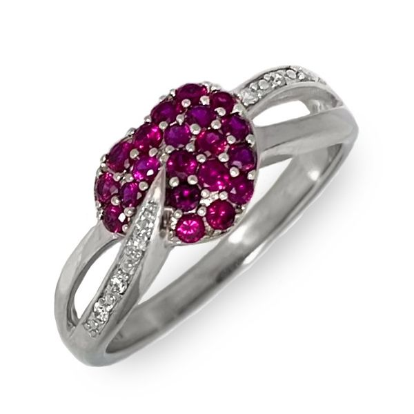 Ruby Heart Ring Coughlin Jewelers St. Clair, MI