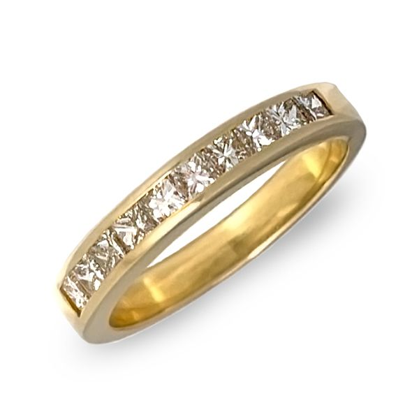 Princess Cut Channel Set Band Coughlin Jewelers St. Clair, MI