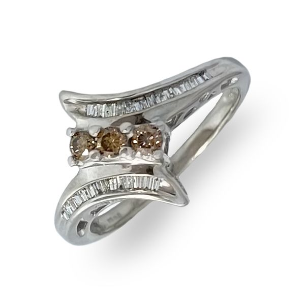 3-Stone Champagne Diamond Ring Coughlin Jewelers St. Clair, MI