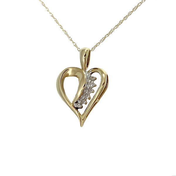 Diamond Loop Open Heart Pendant Coughlin Jewelers St. Clair, MI