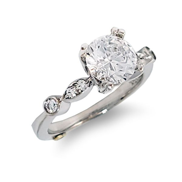 Stackable Style Semi-Mount Engagement Ring Coughlin Jewelers St. Clair, MI
