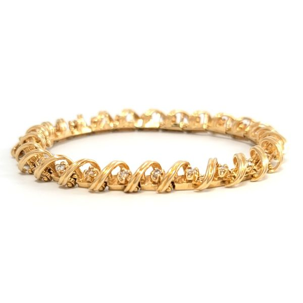 Gold Loop Tennis Bracelet Coughlin Jewelers St. Clair, MI